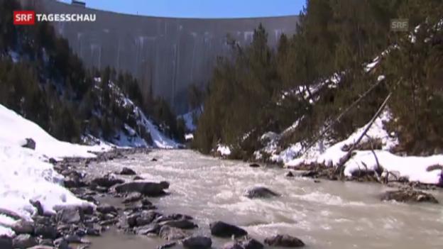 Video «Zahlreiche Fische verenden im Engadin (Tagesschau, 1.04.2013)» abspielen