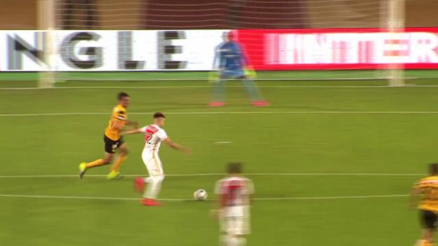 Video «Fussball, CL-Quali, Monaco-YB, 4:0 El Shaarawy» abspielen