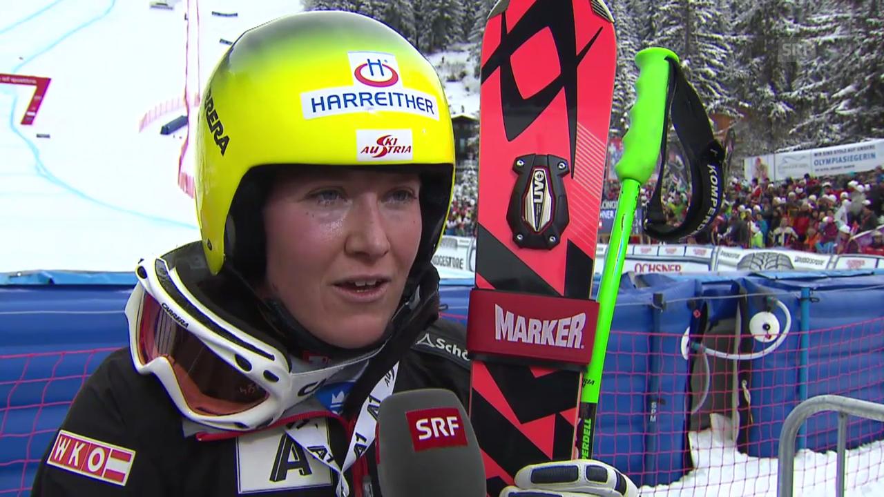 Ski: Weltcup, Abfahrt Crans-Montana, Interview Fischbacher