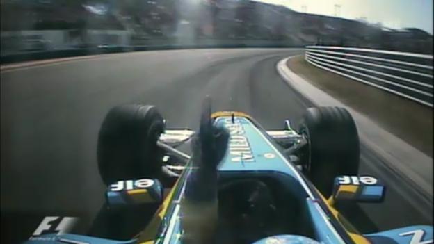 Video «Rückblick auf Alonsos geschichtsträchtigen Sieg beim GP Ungarn 2003» abspielen