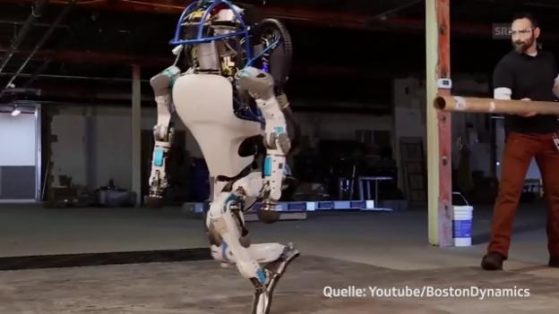 Video «Fiese Attacke: Fühlst du mit diesem Roboter mit?» abspielen