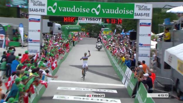 Video «Die Schlussphase der Tour de Suisse» abspielen