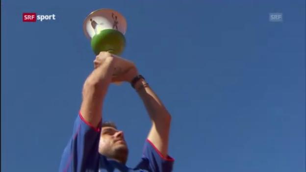 Video «Spielbericht Wawrinka - Ferrer («sportpanorama»)» abspielen