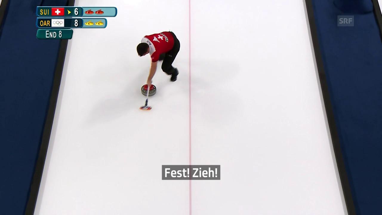Wenn die Schweizer Mixed-Curler laut werden