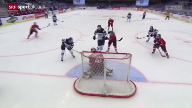 Video «Eishockey: WM Frauen, Schweiz Finnland» abspielen