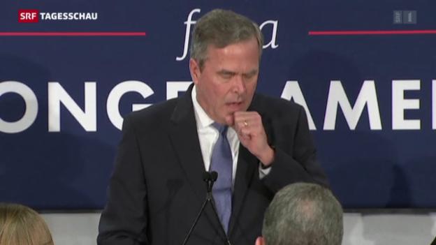 Video «Jeb Bush steigt aus dem Rennen» abspielen