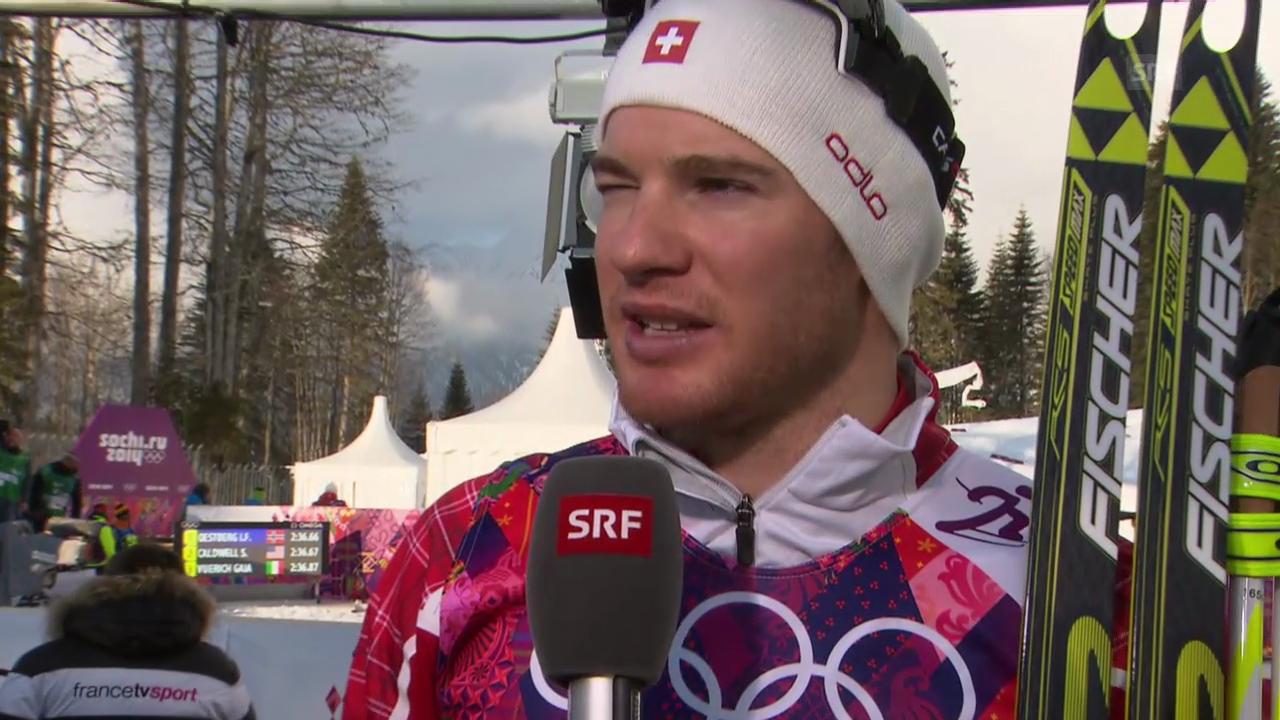 Langlauf: Sprint Männer, Interview mit Dario Cologna (Sotschi direkt, 11.02.2014)