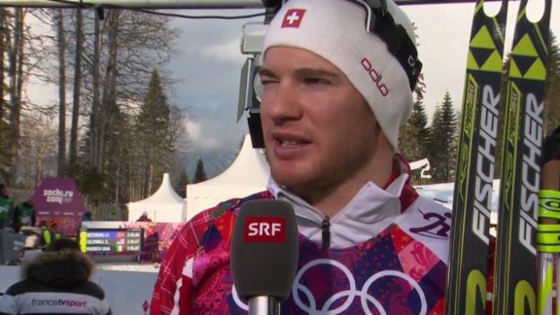 Video «Langlauf: Sprint Männer, Interview mit Dario Cologna (Sotschi direkt, 11.02.2014)» abspielen