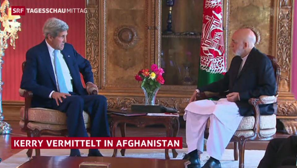 Kerry vermittelt in Afghanistan