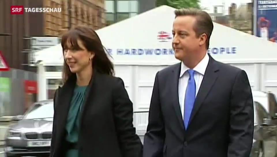 Cameron wirbt für sich und seine Partei
