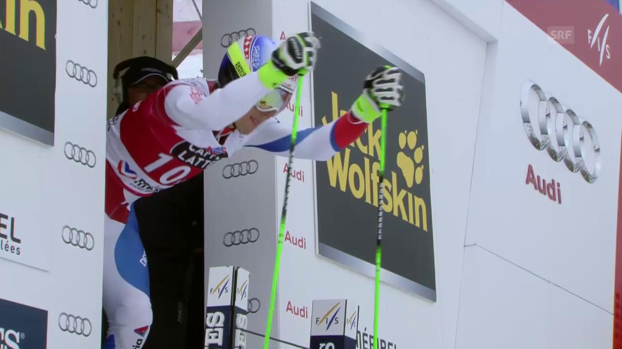 Ski: Riesenslalom Männer, Méribel, 2. Lauf Carlo Janka