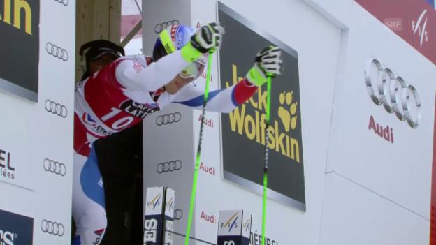 Video «Ski: Riesenslalom Männer, Méribel, 2. Lauf Carlo Janka» abspielen