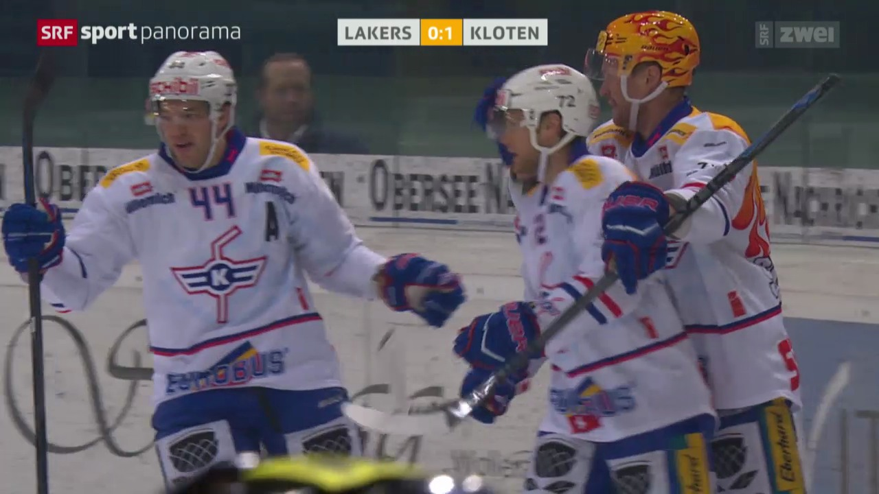 Eishockey: NLA, Lakers - Kloten