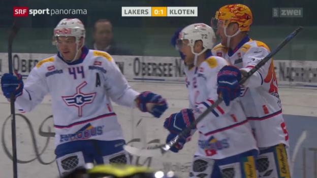Video «Eishockey: NLA, Lakers - Kloten» abspielen