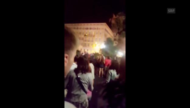 Video «SRF-Augenzeuge filmt Panik in Nizza» abspielen