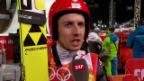 Video «Skispringen: Sotschi, Interview mit Ammann nach 1. Sprung (9.2.14)» abspielen