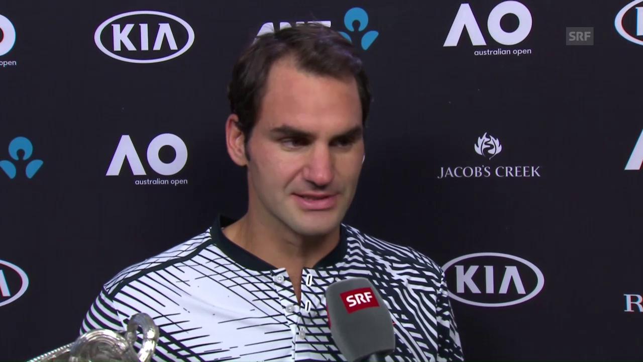 Federer: «Dieser Sieg bedeutet mir unglaublich viel»