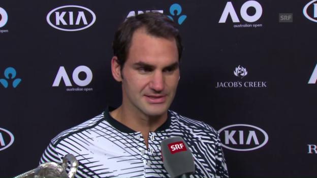 Video «Federer: «Dieser Sieg bedeutet mir unglaublich viel»» abspielen