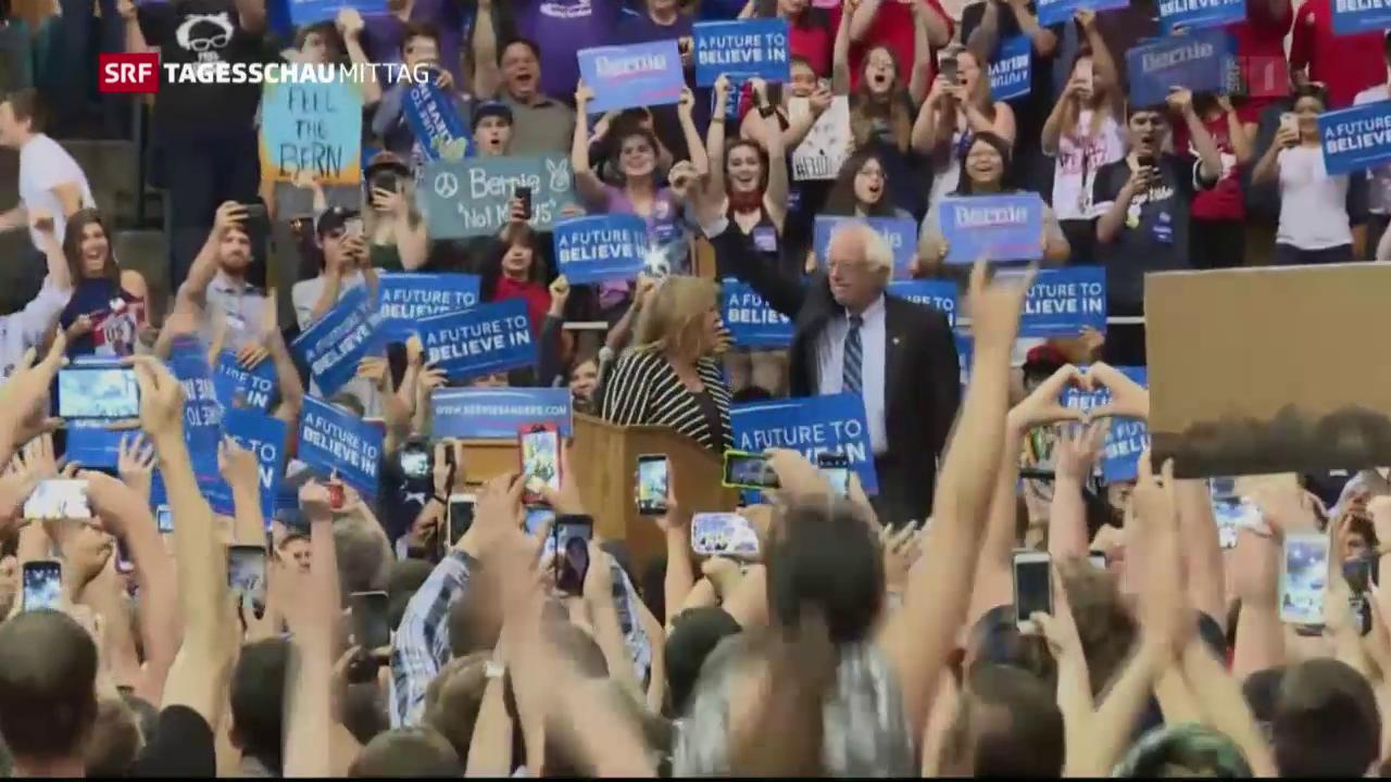 Sanders gewinnt, macht aber kaum Boden gut