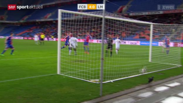 Video «Fussball: Cup-Viertelfinal Basel-Le Mont» abspielen