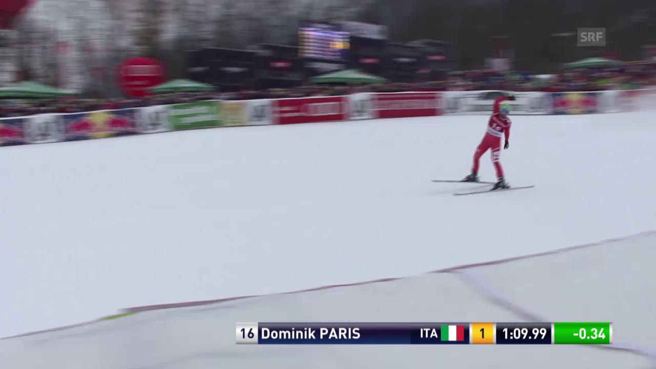 Ski: Super-G Kitzbühel, die Fahrt von Dominik Paris