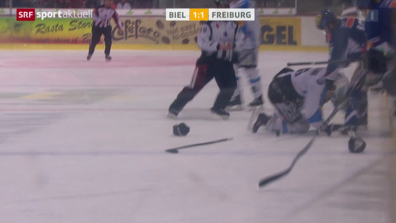 Eishockey: NLA, Biel - Freiburg