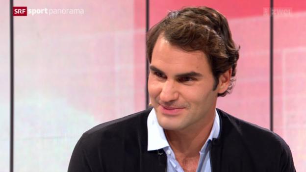 Video «Tennis: Studiogast Roger Federer, Teil 1» abspielen