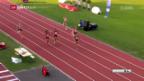 Video «Kambundji läuft historischen Rekord über 100 m» abspielen