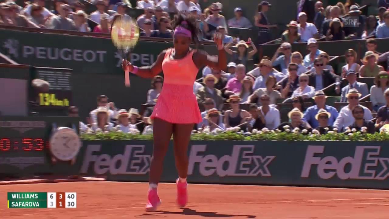 Tennis: Final French Open, S. Williams - Safarova, Live-Highlights