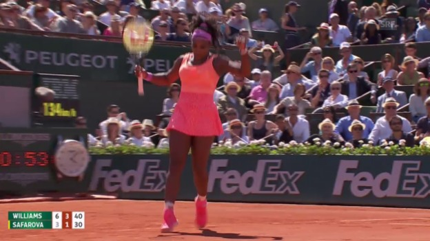Video «Tennis: Final French Open, S. Williams - Safarova, Live-Highlights» abspielen