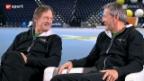 Video «Freundschaft trotz Rivalität: Russi und Klammer im Gespräch» abspielen