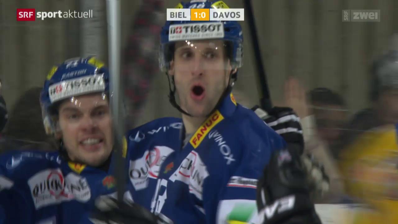 Eishockey: Biel - Davos