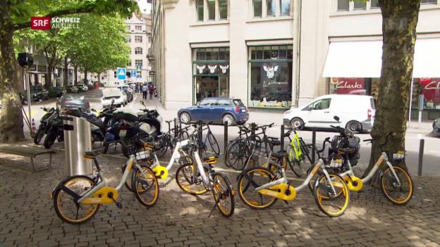 Video «Widerstand gegen O-Bike wächst in Zürich» abspielen