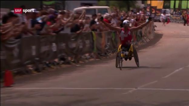 Video «Behindertensport: Leichtathletik-WM in Lyon («sportpanorama»)» abspielen