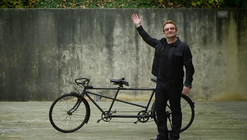 Bono versteigert seine Velofahr-Künste