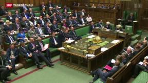 Video «Britische Austrittsdebatte im Parlament» abspielen
