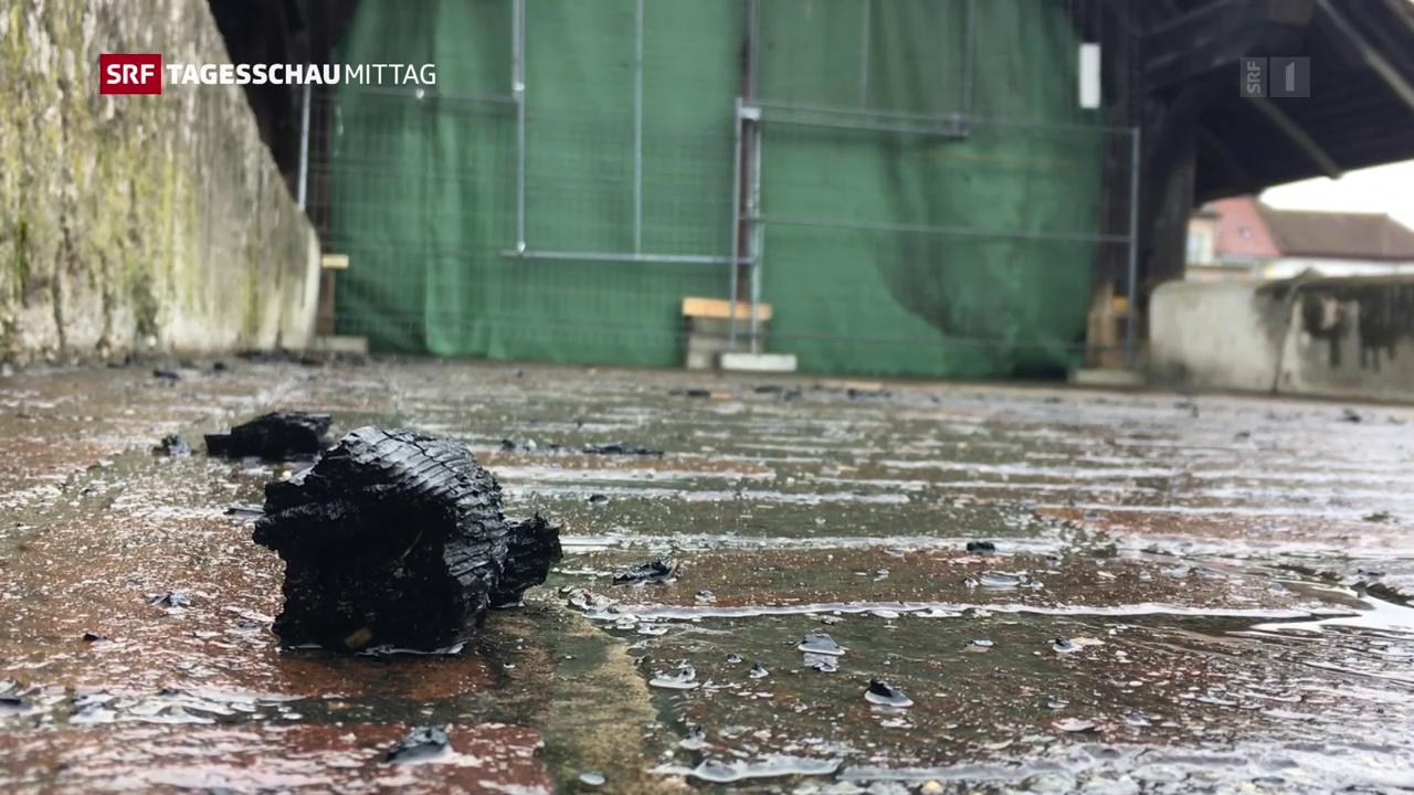Grosser Sachschaden nach Brückenbrand