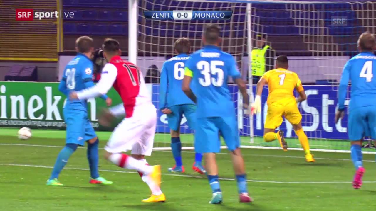 Fussball: CL, Zenit - Monaco