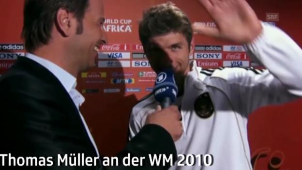 Video «Fussball: WM 2010: Quotes von Thomas Müller in Südafrika» abspielen