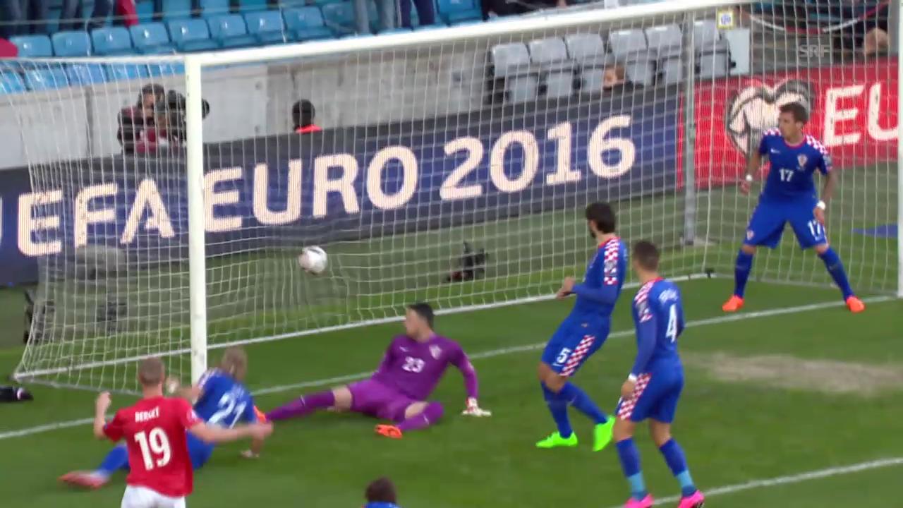 Fussball: EURO-Quali, Norwegen-Kroatien