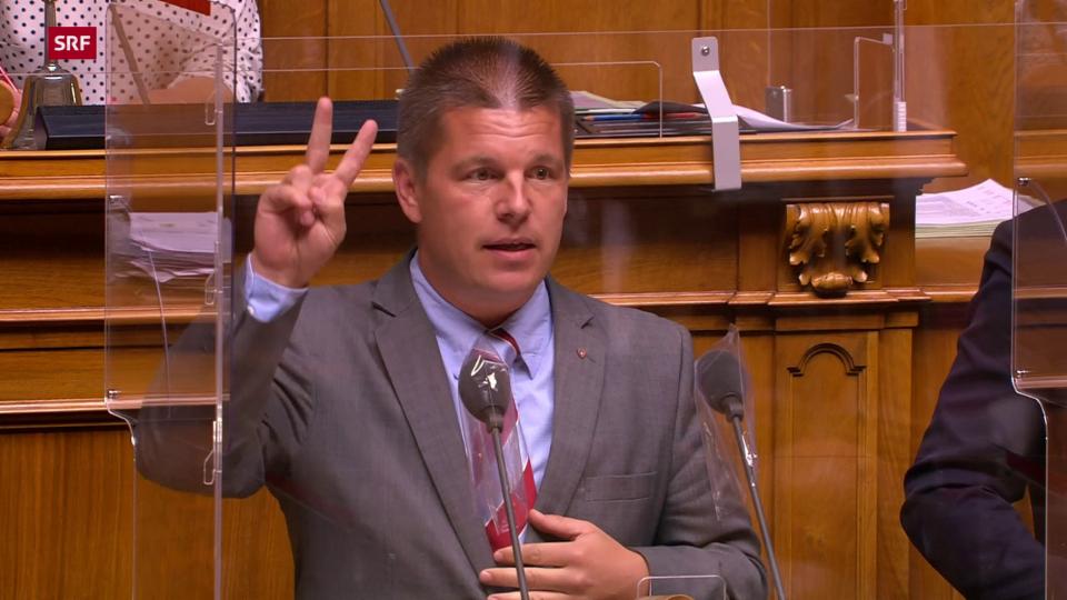 Erich Hess (SVP/BE) nennt zwei Gründe für den Abbruch der Sitzung