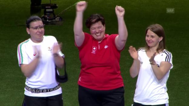 Video «Schiessen: Europa-Spiele, Baku, Gold für Diethelm Gerber» abspielen