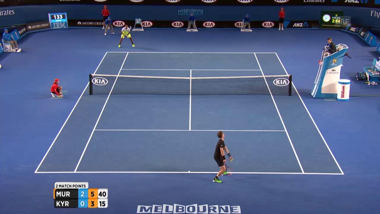 Tennis: Australian Open: Murray -Kyrgios, Matchball Murray