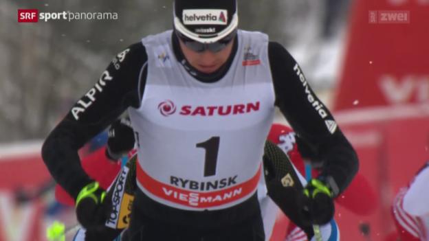 Video «Langlauf: Weltcup Männer Rybinsk» abspielen