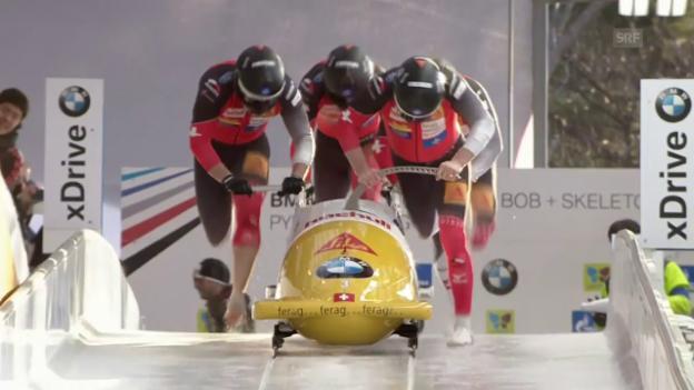 Video «Peters zweiter Lauf in Pyeongchang» abspielen