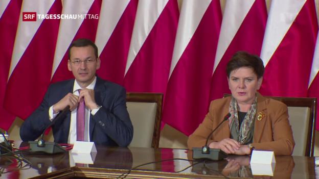 Video «Machtwechsel an der Regierungsspitze Polens» abspielen