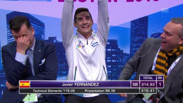 Video «Javier Fernandez erneut Weltmeister» abspielen