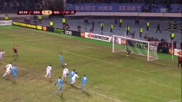 Video «Highlights: Zenit St. Petersburg - FC Basel» abspielen