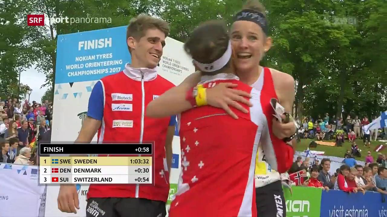Schweizer OL-Equipe überzeugt auch im Team-Wettkampf