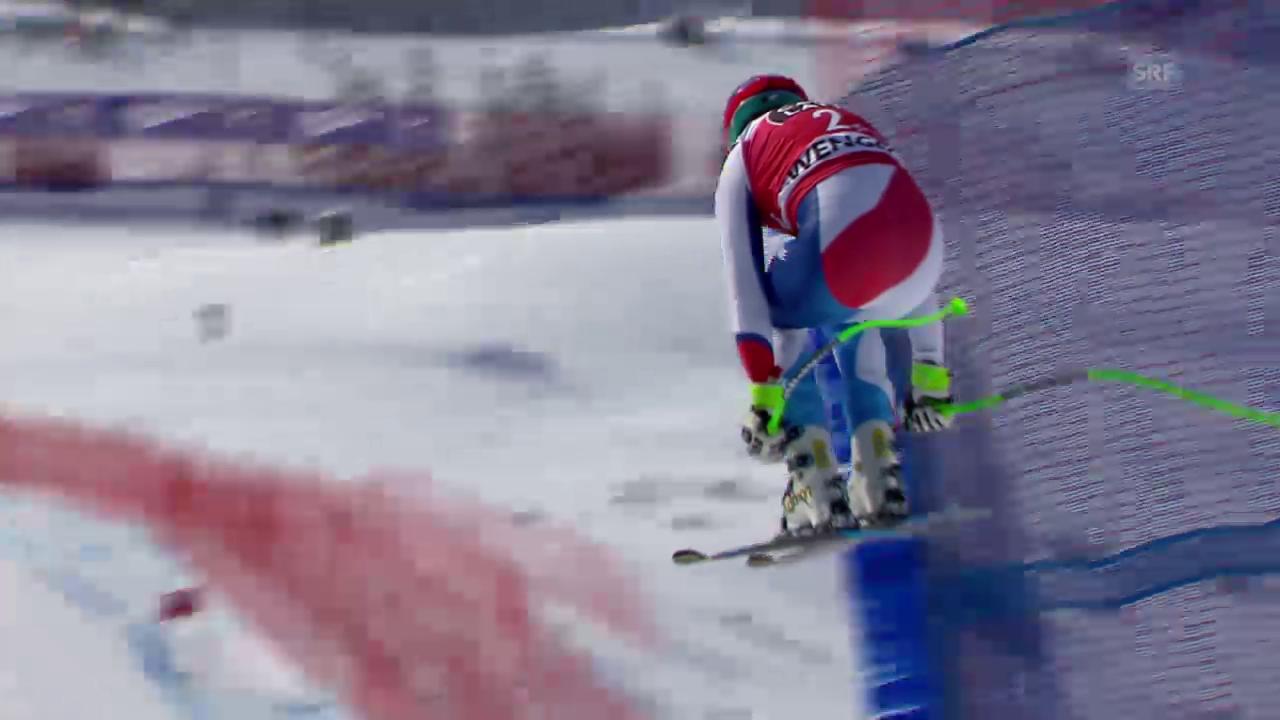 Ski Alpin: Abfahrt Wengen, Fahrt von Viletta